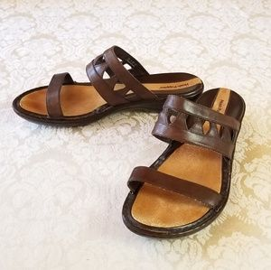 Hush Puppies Brown Leather Sandals